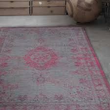fading world 8261 pink flash designer luxury rug by de poortere