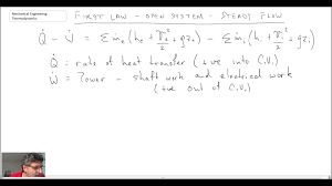 mechanical engineering thermodynamics lec 4 pt 3 of 3 first law open system steady