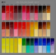 American Spirit Color Chart 2017 Color Charts Pigment Information On Colors And Paints