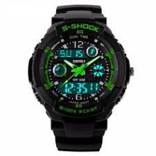 oulm men s survival watch compass and thermometer analog dual display military survival watch