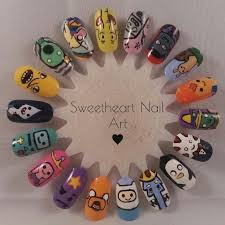 <b>Adventure</b> Time <b>nail</b> art wheel | Diseños de uñas halloween, Uñas ...