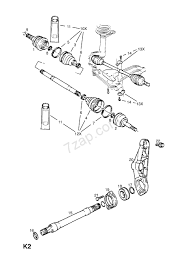 Car front axle diagram front axle drive shaft contd opel kadette e of car front axle