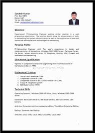 Best Job Resume Format It Resume Cover Letter Sample