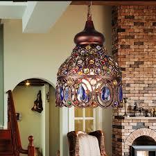 mediterranean style lighting. Creative Mediterranean Style Colorful Chandelier Iron Crystal Light Restaurant Aisle Bar Terrace Lamp Decoration Lighting E27