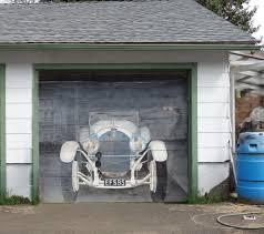 garage door muralsOutdoor murals dress up sheds garages and blank walls plus seven