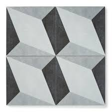 black and white diamond tile floor. Diamond Twist Black And White Tile Floor O