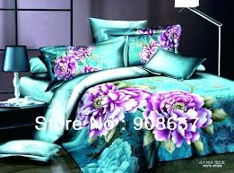 turquoise purple bedding pink