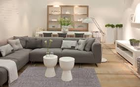 contemporary living room gray sofa set. Modern And Contemporary White Living Room With Gray Sofa Set Floor Lamp.