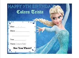 elsa birthday invitations frozen elsa birthday invitation card