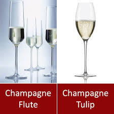 difference between champagne flute and champagne tulip