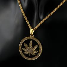 men s hip hop gold plated ice out round maple leaf pendant 28 chain necklace