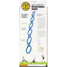 Resistance Band Exercise Chart Golds Gym Multi Functional Resistance Band With Exercise