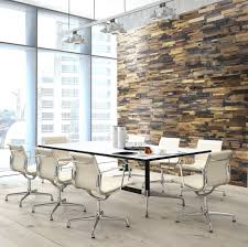 office statement reclaimed wood wall