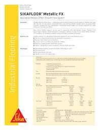 Sika 1a Color Chart Sikafloor Metallic Fx Manualzz Com