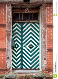 front door with green and white pattern in an old house stock image image of grunge exit 59770189