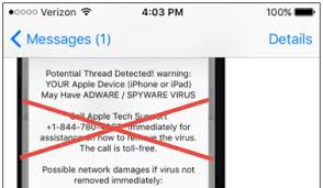 Technology Support Or Tech Virus Your Iphone Idea On Scam Big A B1qvw