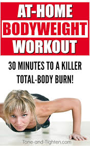 total body bodyweight workout at home