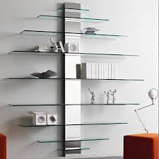 tonelli mondovisione glass wall shelving unit