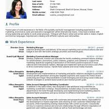 Resume Format For Hotel Job Staggeringsume Example Marketing Template Brilliant Ideas Of 32