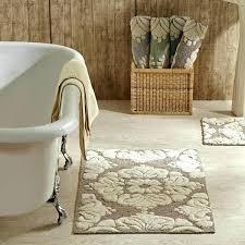 bathroom rug sets bathroom rugs set 2 piece medallion pattern cotton tufted bath rug set