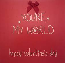 Carte di Cotone Bianco Tu Sei Il Mio Mondo Happy Valentine Day Rifinito a  Mano Carta di San Valentino: Amazon.it: Casa e cucina