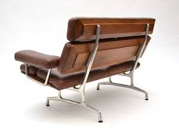 eames teak and leather sofa by herman miller at stdibs