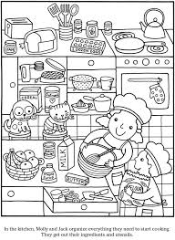 colouring in page sle page from color cook story coloring book via dover publications s