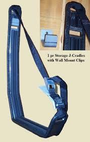 j storage kayak wall hanger cradle