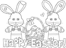 Disegno Da Colorare Per Pasqua Con Uova E Conigli Easter