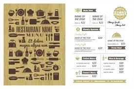 Restaurant Menu Templates Free Word Restaurant Menu Templates Free