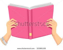 cropped ilration of a holding an open book