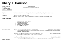 First Resume 15 Student Resume Cv For High School No Work
