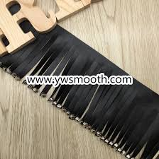 china black faux leather ribbon with tassels fringe trim ribbon rivet china garment accessories shoes