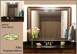 framed bathroom vanity mirrors. Bathroom Mirror With Frame Added To Existing Over Sink Framed Vanity Mirrors U