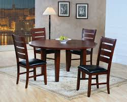 dining table set with lazy susan. he-586-60 5 pc ameillia collection dark oak finish wood round dining table set with lazy susan s