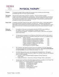 Occupational Therapy Resume Template Pta Sample Toreto Co