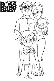 Interesting Design Ideas Boss Baby Coloring Pages Family Of Page