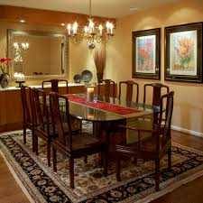 traditional dining room wall decor ideas. Persian Carpet For Traditional Dining Room Ideas With Antique Gold Chandelier And Floral Painting Design Wall Decor E