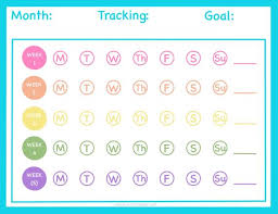 Monthly Tracking Chart Monthly Tracker Chart
