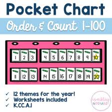Ordering Numbers 1 100 Pocket Chart Center