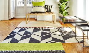 rustic chic geo rug from gan
