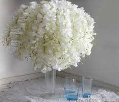 diy artificial white wisteria silk flower for home party wedding garden fl decoration living room valentine day centerpieces table decor white wisteria