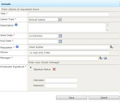 Request Off Calendar Template Leave Request System Free Sharepoint Business Solution