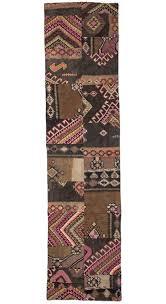 pacthwork runner rug 2 6 x 10 3 feet