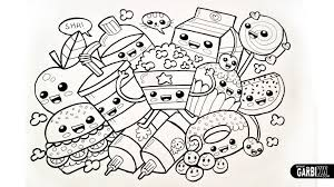 Drawing Cute Food Easy And Kawaii Graffitigarbi Kw Art Intended