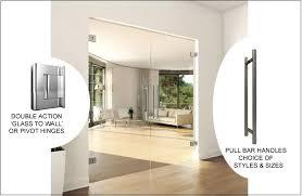 frameless glass double doors opening