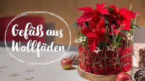 Last Minute Geschenk Gefäß Aus Wollfäden Für Den