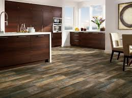 Fine Kitchen Wood Tile Flooring Design E Intended Inspiration