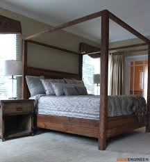diy bed plans king size canopy bed plans rogue engineer 2 diy loft bed plans with storage
