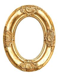 gold oval frame glasses golden isolated on white baroque style antique object vintage oval gold frame